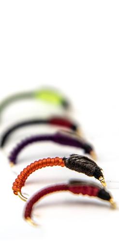 Amettiera per coregone lavarello multicolore con torace rigonfio per meglio imitare la fase emergente dello sviluppo del chironomo. Realizzato in più colori per capire in velocità le abitudini di alimentazione del pesce.