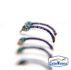 Amettiera da coregone lavarello in due colori, viola e verde, entrambi adatti alla profondità. Smaltato in riflettente UV per aumentare la visibilità a profondità sostenute.