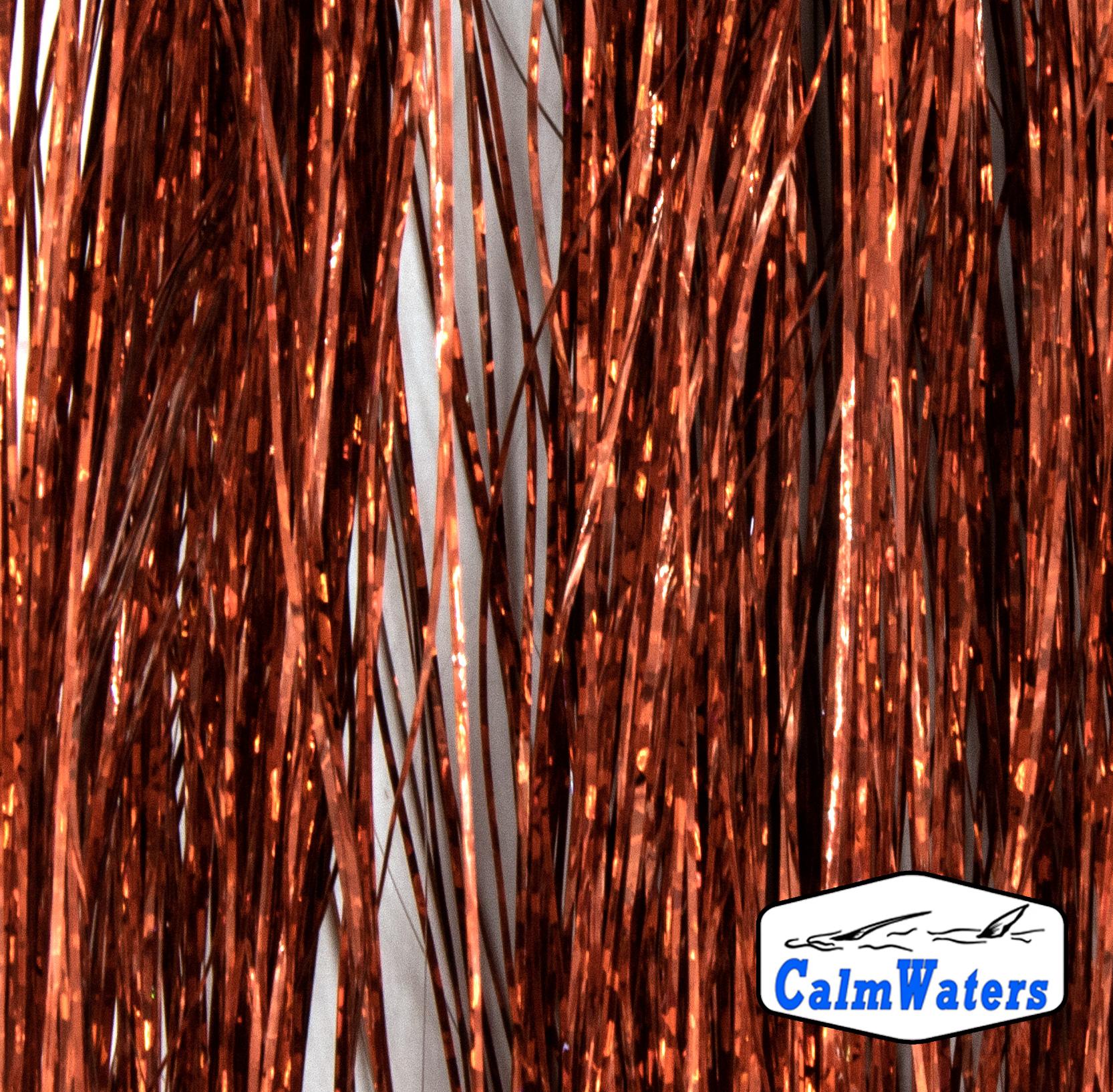 Fibre olografiche per fare rigature sul corpo delle imitazioni di larva di chironomo per la pesca al coregone lavarello e ciuffi brillanti nelle codette delle amettiere per persico reale e agone